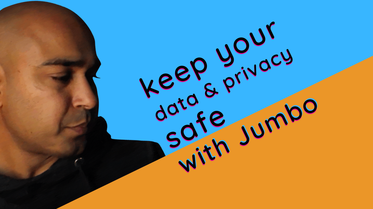 data and privacy with jumbo app and tea and toast